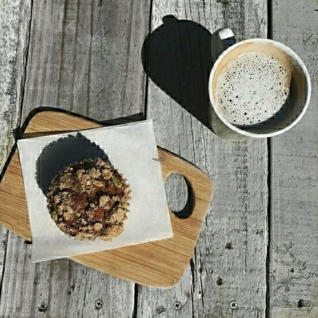 """Photo of Bunkhouse Coffee Bar  by <a href=""""/members/profile/Des_tiny_lee"""">Des_tiny_lee</a> <br/>agave lavendar latte and vegan muffins ? <br/> April 18, 2017  - <a href='/contact/abuse/image/81026/249779'>Report</a>"""