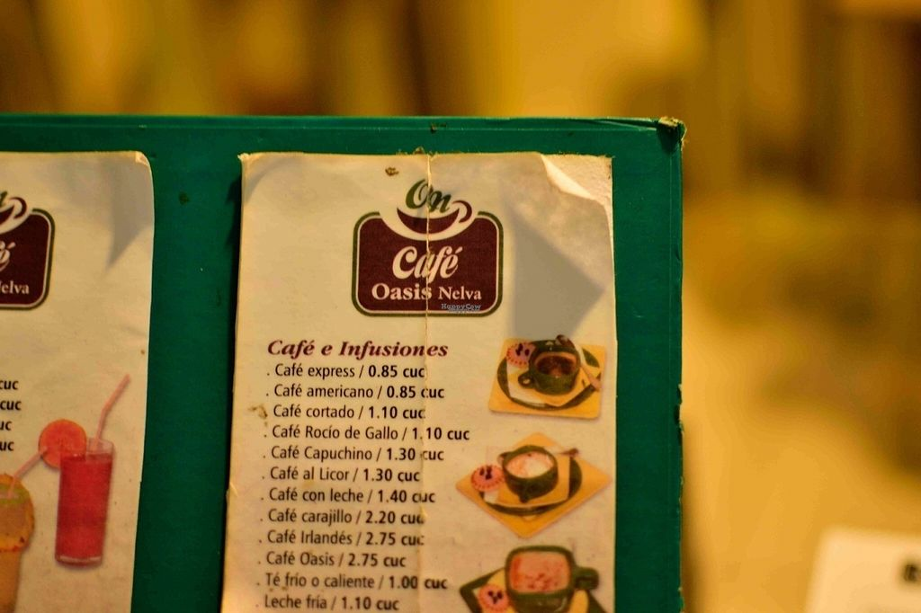 """Photo of Oasis Nelva Cafe Creperie  by <a href=""""/members/profile/karolus"""">karolus</a> <br/>Part of the coffee menu <br/> October 6, 2016  - <a href='/contact/abuse/image/81039/180140'>Report</a>"""
