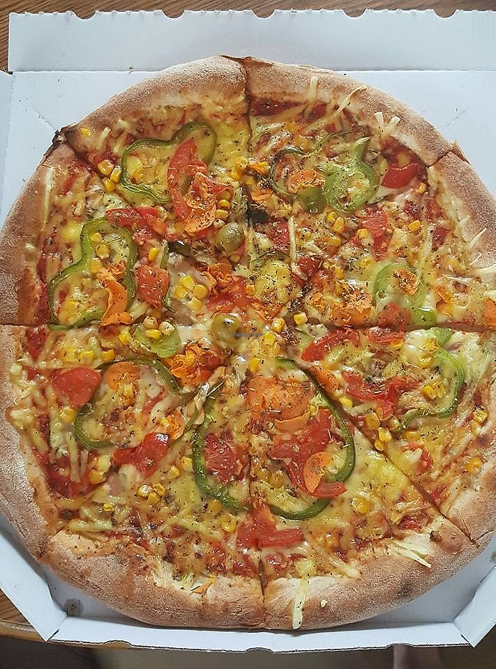 """Photo of Picerija Hitri  by <a href=""""/members/profile/slovenianvegan"""">slovenianvegan</a> <br/>Vegan pizza.  Photo by: Tina H. on Facebook <br/> March 8, 2018  - <a href='/contact/abuse/image/81050/368230'>Report</a>"""