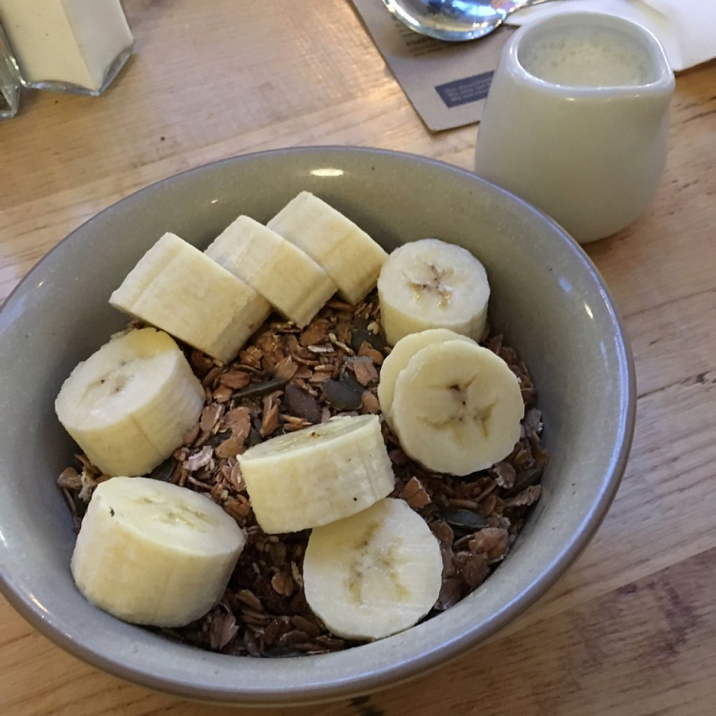 """Photo of Boston Tea Party  by <a href=""""/members/profile/LaurenaMct"""">LaurenaMct</a> <br/>Spelt granola with Banana and Almond milk ? <br/> January 14, 2017  - <a href='/contact/abuse/image/8106/211961'>Report</a>"""