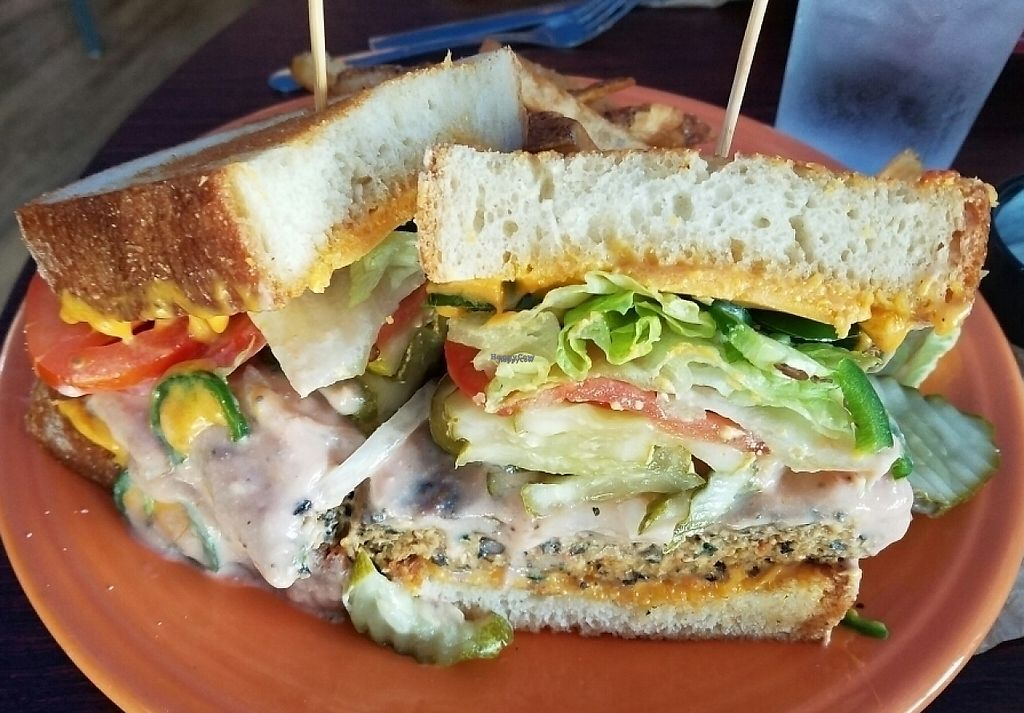 """Photo of Melt Bar & Grilled - Worth Ave  by <a href=""""/members/profile/Silly%20Little%20Vegan"""">Silly Little Vegan</a> <br/>Vegan Good Burger <br/> October 6, 2016  - <a href='/contact/abuse/image/81078/216861'>Report</a>"""