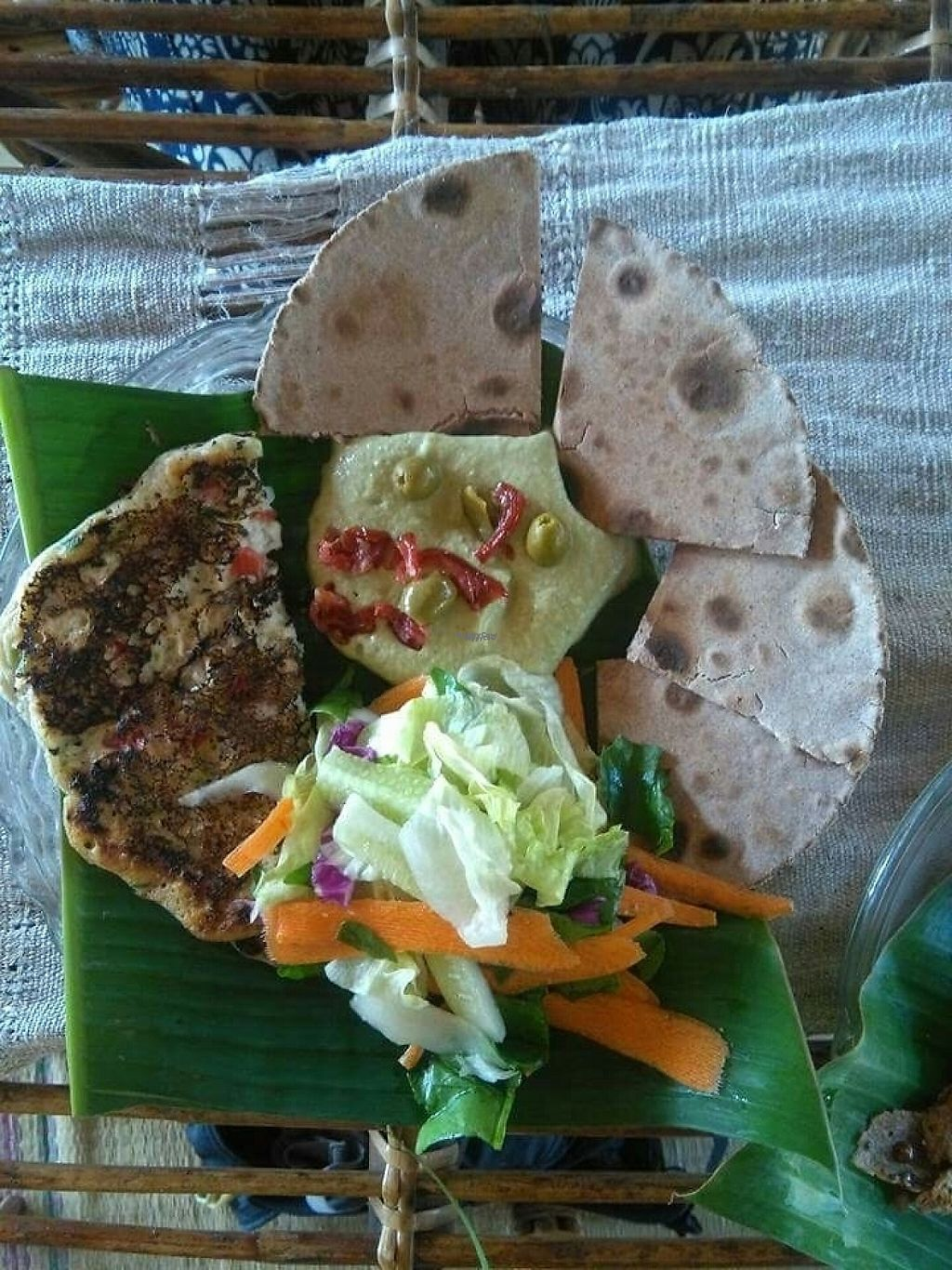 """Photo of Dharma Swasti  by <a href=""""/members/profile/HappyVeganCam"""">HappyVeganCam</a> <br/>Vegan chickpea omelette with hummus and gluten free bread <br/> December 20, 2016  - <a href='/contact/abuse/image/81096/203132'>Report</a>"""