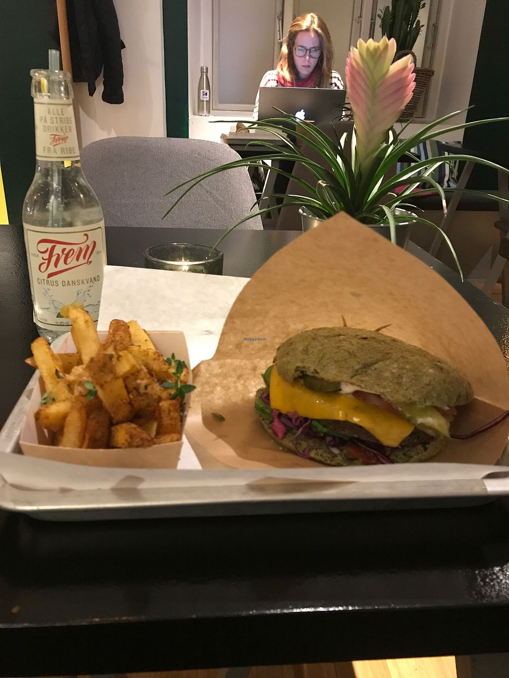 """Photo of GreenBurger - Frederiksborggade  by <a href=""""/members/profile/ClaireMartin"""">ClaireMartin</a> <br/>Tease Burger & Chilli Fries! <br/> November 21, 2017  - <a href='/contact/abuse/image/81101/327835'>Report</a>"""
