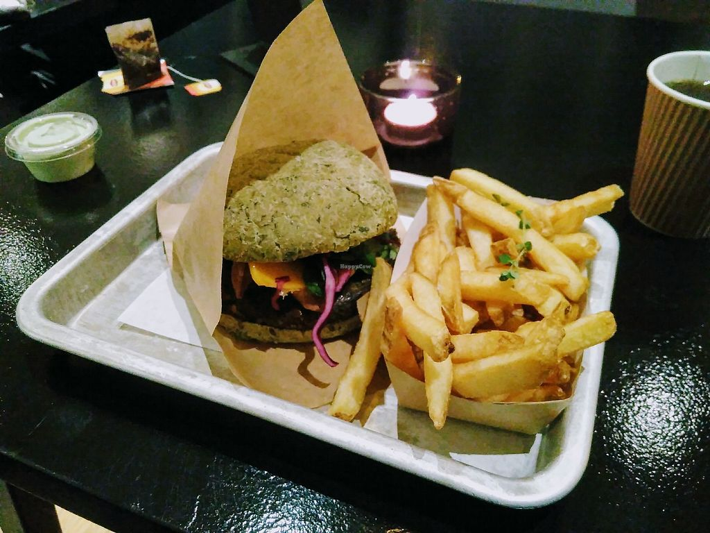 """Photo of GreenBurger - Frederiksborggade  by <a href=""""/members/profile/mcld"""">mcld</a> <br/>burger & chips <br/> February 27, 2018  - <a href='/contact/abuse/image/81101/364571'>Report</a>"""