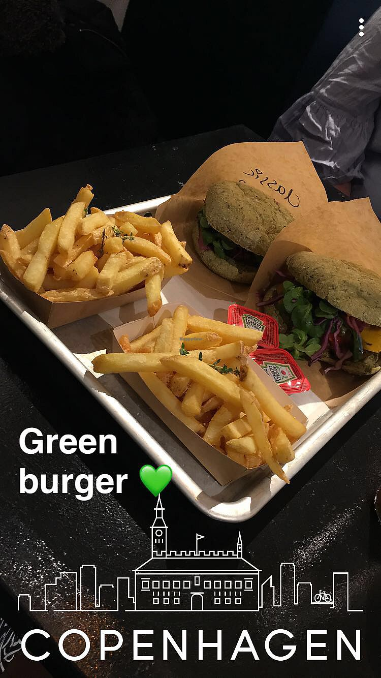 """Photo of GreenBurger - Frederiksborggade  by <a href=""""/members/profile/IdaJohansen"""">IdaJohansen</a> <br/>Delicious burger. Can't remember which it was  <br/> February 28, 2018  - <a href='/contact/abuse/image/81101/364815'>Report</a>"""