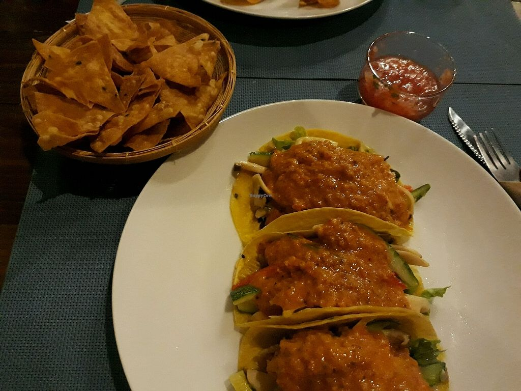 "Photo of Ole Gourmet Mexican  by <a href=""/members/profile/LilacHippy"">LilacHippy</a> <br/>Pumpkin tacos with chips and salsa <br/> September 22, 2017  - <a href='/contact/abuse/image/81148/306979'>Report</a>"