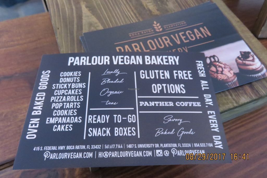"""Photo of Parlour Vegan Bakery  by <a href=""""/members/profile/tracyrocks"""">tracyrocks</a> <br/>postcard <br/> January 6, 2018  - <a href='/contact/abuse/image/81166/343441'>Report</a>"""