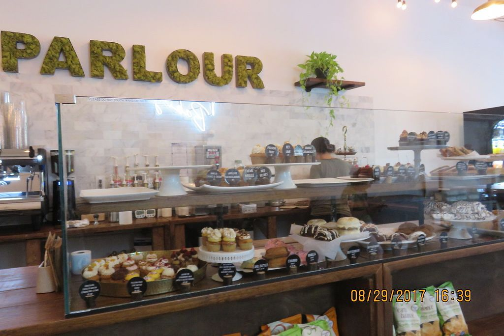 """Photo of Parlour Vegan Bakery  by <a href=""""/members/profile/tracyrocks"""">tracyrocks</a> <br/>counter <br/> January 6, 2018  - <a href='/contact/abuse/image/81166/343442'>Report</a>"""