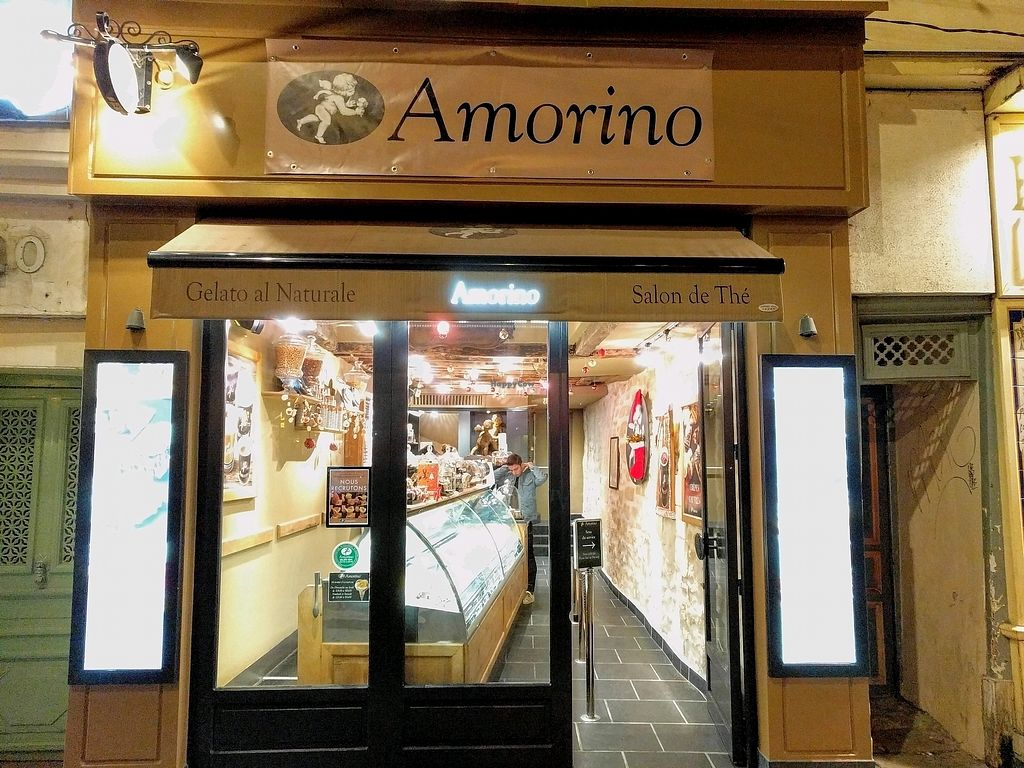 """Photo of Amorino - Mouffetard  by <a href=""""/members/profile/The%20Hungry%20Vegan"""">The Hungry Vegan</a> <br/>Storefront <br/> November 25, 2017  - <a href='/contact/abuse/image/81181/329150'>Report</a>"""