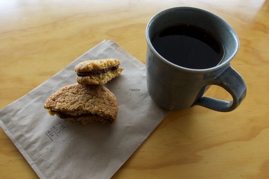 """Photo of Pickle In The Middle  by <a href=""""/members/profile/veganbob"""">veganbob</a> <br/>Filter coffee in hand made mug.  <br/> October 12, 2016  - <a href='/contact/abuse/image/81206/181524'>Report</a>"""
