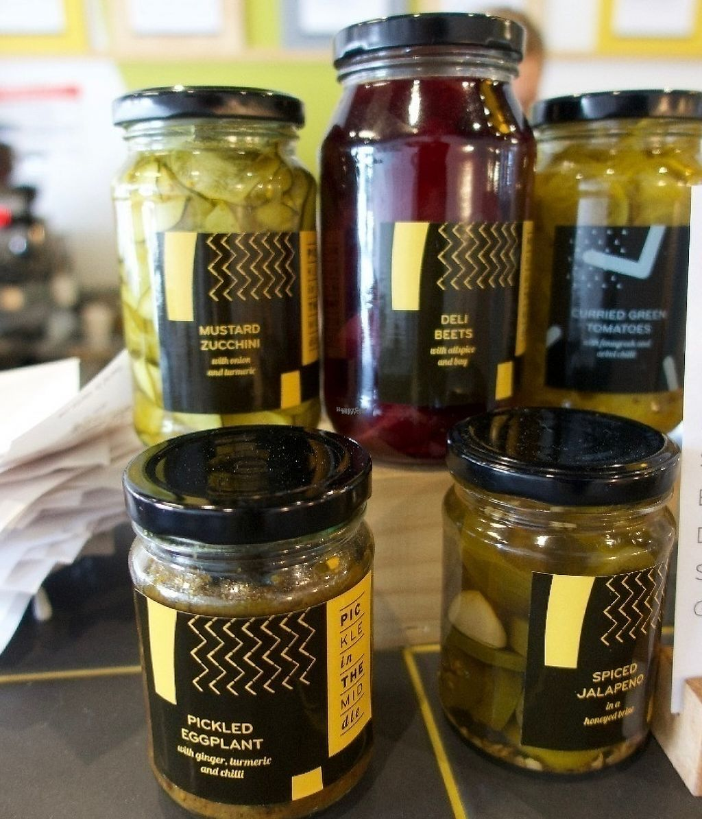 """Photo of Pickle In The Middle  by <a href=""""/members/profile/veganbob"""">veganbob</a> <br/>House made pickles to take home <br/> October 12, 2016  - <a href='/contact/abuse/image/81206/255321'>Report</a>"""