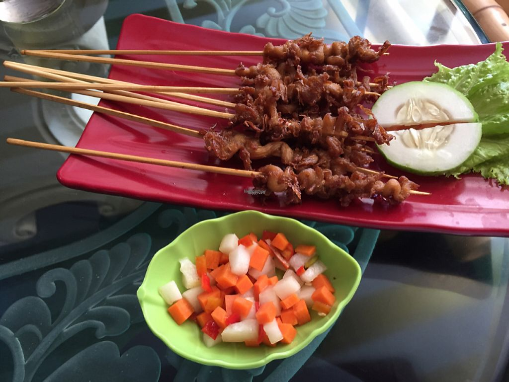 """Photo of Mai3 Cafegan  by <a href=""""/members/profile/SusanRoberts"""">SusanRoberts</a> <br/>mushroom satay <br/> November 16, 2016  - <a href='/contact/abuse/image/81251/190798'>Report</a>"""