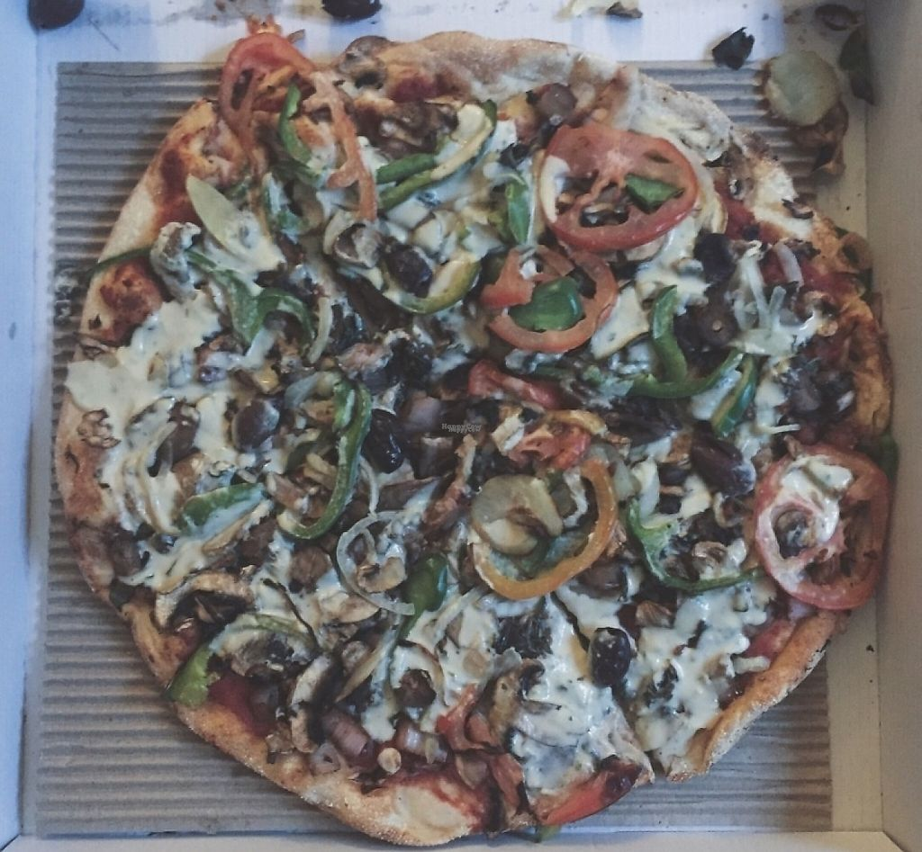 """Photo of Manoosh Pizzeria  by <a href=""""/members/profile/chelseyprior"""">chelseyprior</a> <br/>Vegan's Paradise Pizza <br/> October 11, 2016  - <a href='/contact/abuse/image/81257/248118'>Report</a>"""