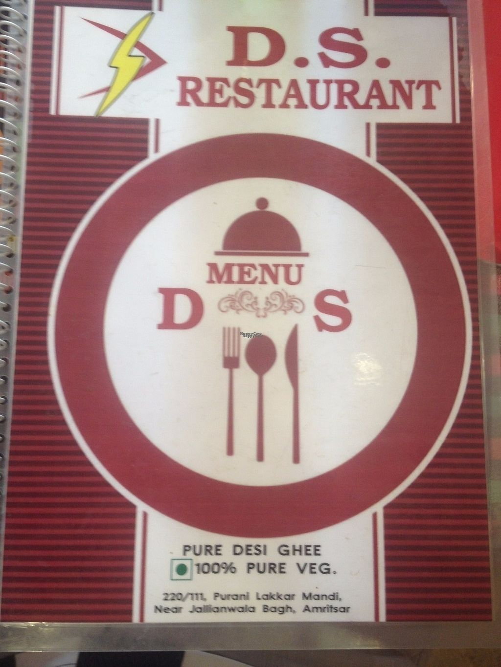 """Photo of D.S. Restaurant  by <a href=""""/members/profile/vegan_ryan"""">vegan_ryan</a> <br/>Menu cover <br/> October 10, 2016  - <a href='/contact/abuse/image/81259/181189'>Report</a>"""