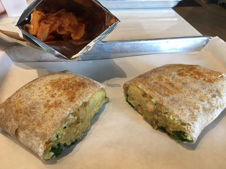 """Photo of Mendocino Farms  by <a href=""""/members/profile/Winchi"""">Winchi</a> <br/>The """"Samosa Dosa"""" with a side of barbecue chips. Highly recommend <br/> October 11, 2016  - <a href='/contact/abuse/image/81282/181489'>Report</a>"""