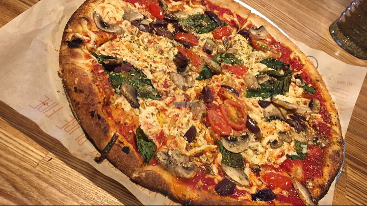 """Photo of Blaze Pizza  by <a href=""""/members/profile/AnaVEGANA"""">AnaVEGANA</a> <br/>vegan pizza <br/> October 11, 2016  - <a href='/contact/abuse/image/81293/181514'>Report</a>"""