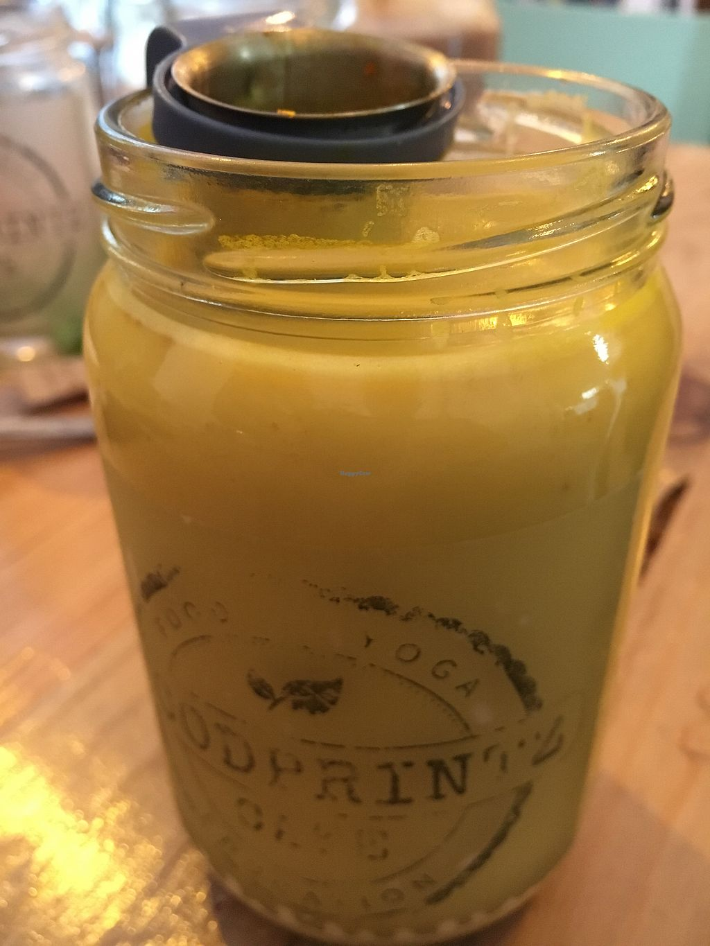 """Photo of Foodprintz Cafe  by <a href=""""/members/profile/hack_man"""">hack_man</a> <br/>Turmeric soya latte  <br/> September 8, 2017  - <a href='/contact/abuse/image/81313/302147'>Report</a>"""