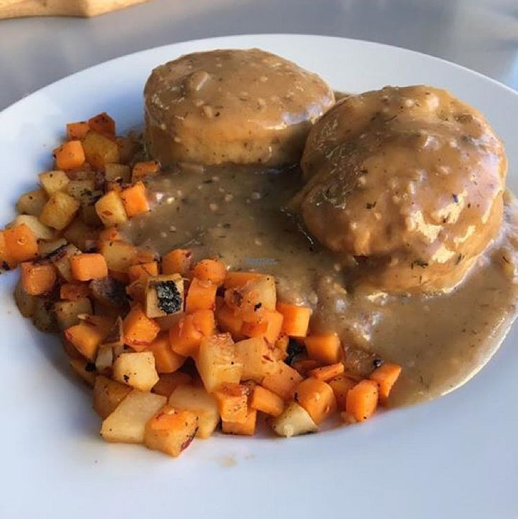 """Photo of Green House Cafe  by <a href=""""/members/profile/Garlicvegan"""">Garlicvegan</a> <br/>biscuits and gravy <br/> October 15, 2016  - <a href='/contact/abuse/image/81334/182300'>Report</a>"""