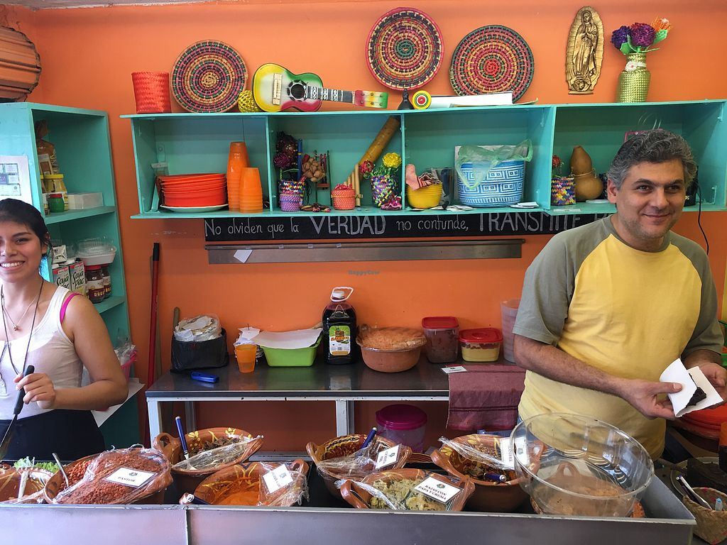 """Photo of El Rincon de Tacotlan  by <a href=""""/members/profile/Szymon"""">Szymon</a> <br/>The owner on the right and his wonderful shop <br/> November 11, 2017  - <a href='/contact/abuse/image/81340/324074'>Report</a>"""