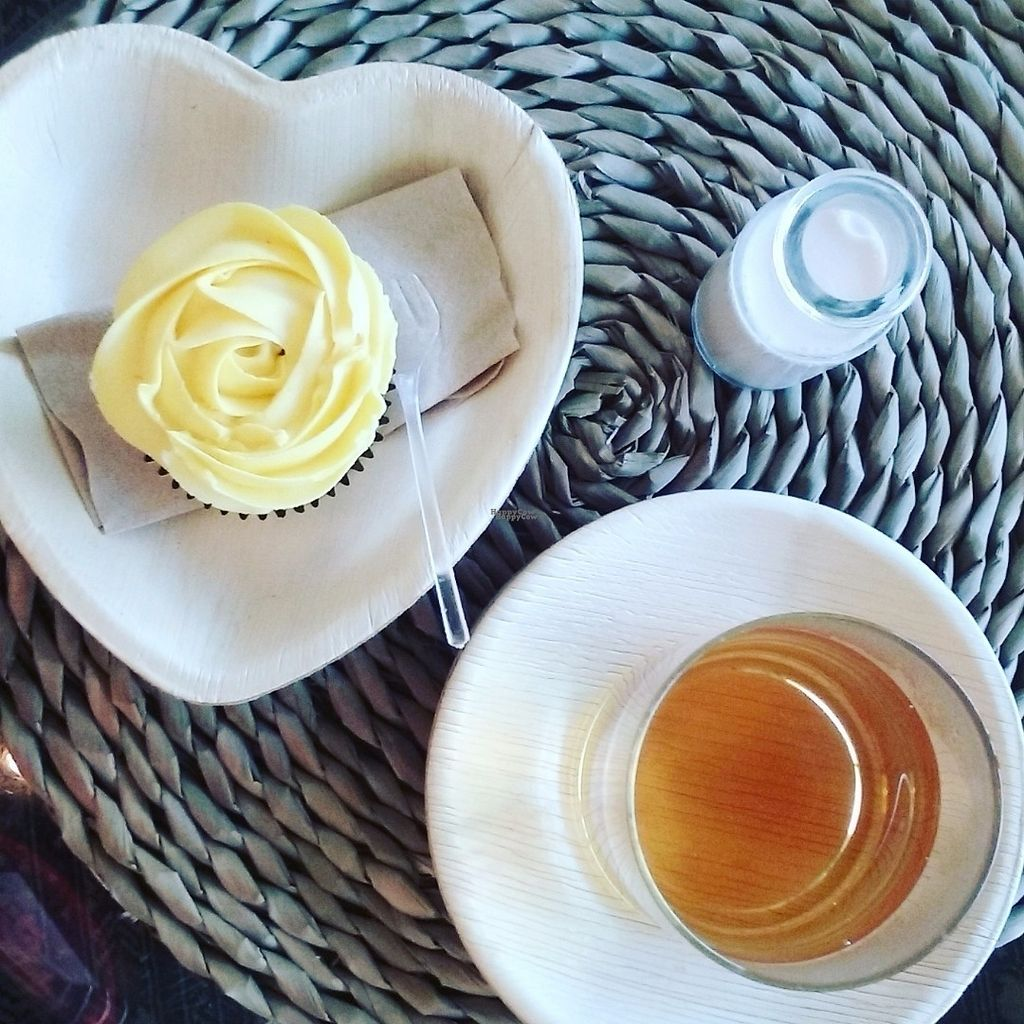 """Photo of CLOSED: Nusantara Indonesian Tea Cafe  by <a href=""""/members/profile/nusantaravegan"""">nusantaravegan</a> <br/>A lemon chiffon cupcake with chai tea and almond mylk on any Auckland weather day is perfect <br/> October 14, 2016  - <a href='/contact/abuse/image/81343/182004'>Report</a>"""