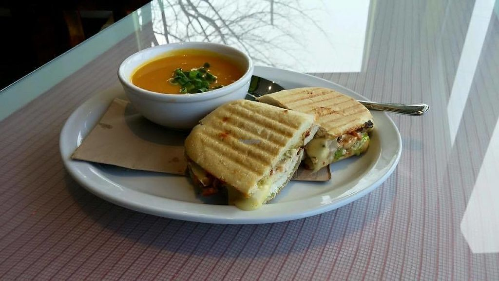 """Photo of Harvest Grill n Greens  by <a href=""""/members/profile/community"""">community</a> <br/>Soup and Panini <br/> March 10, 2017  - <a href='/contact/abuse/image/81417/234801'>Report</a>"""