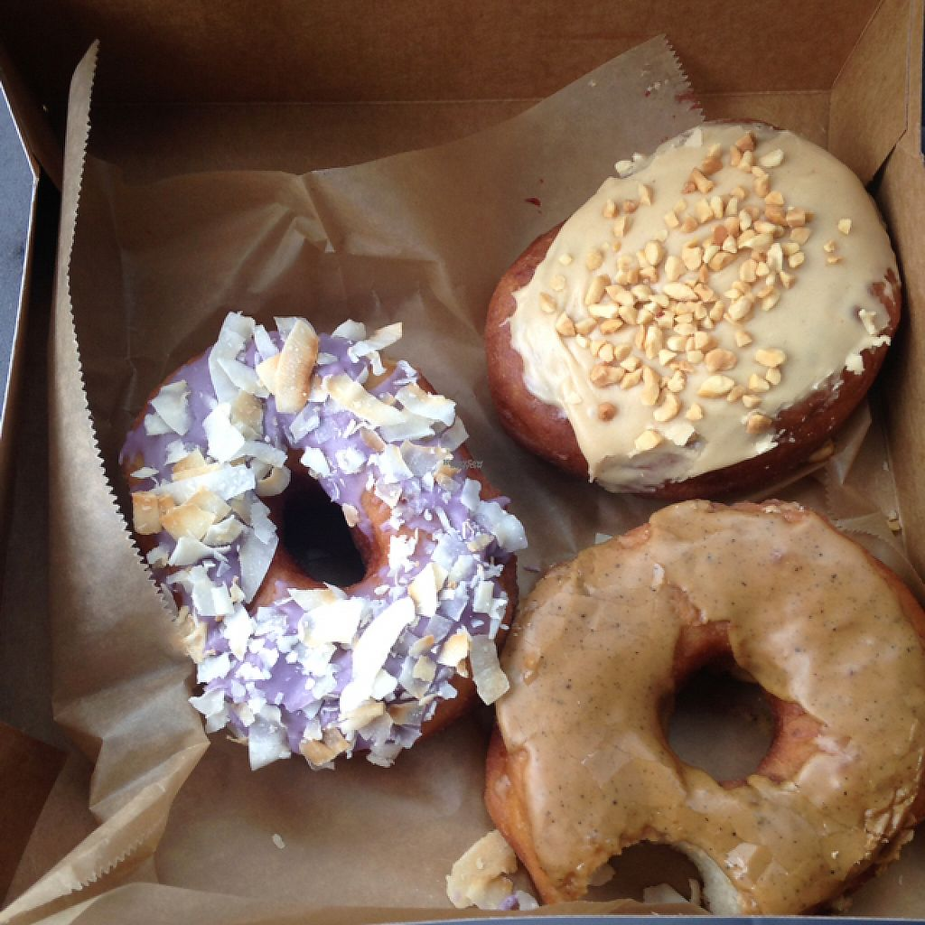 "Photo of Nomad Donuts  by <a href=""/members/profile/Mudnotblood"">Mudnotblood</a> <br/>taro coconut, Pb n j, dirty chai <br/> January 22, 2017  - <a href='/contact/abuse/image/81432/214597'>Report</a>"