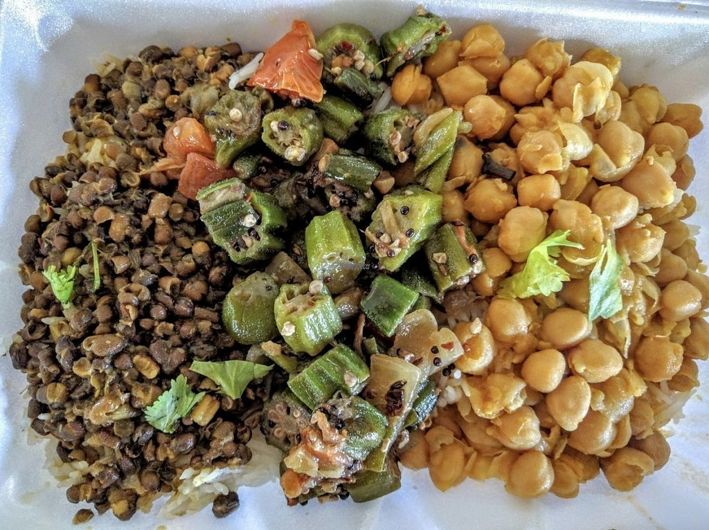 """Photo of Shri Ram Indian Cuisine  by <a href=""""/members/profile/arcataroger"""">arcataroger</a> <br/>A sample of their to-go lunchbox (rotates daily) <br/> October 15, 2016  - <a href='/contact/abuse/image/81433/182249'>Report</a>"""