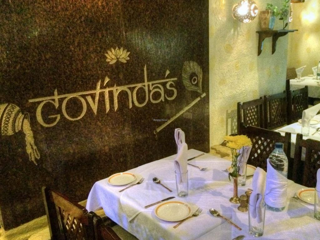 """Photo of Govinda's  by <a href=""""/members/profile/gsbito"""">gsbito</a> <br/>A 'waterfall' sign at our table <br/> November 5, 2014  - <a href='/contact/abuse/image/8144/84738'>Report</a>"""