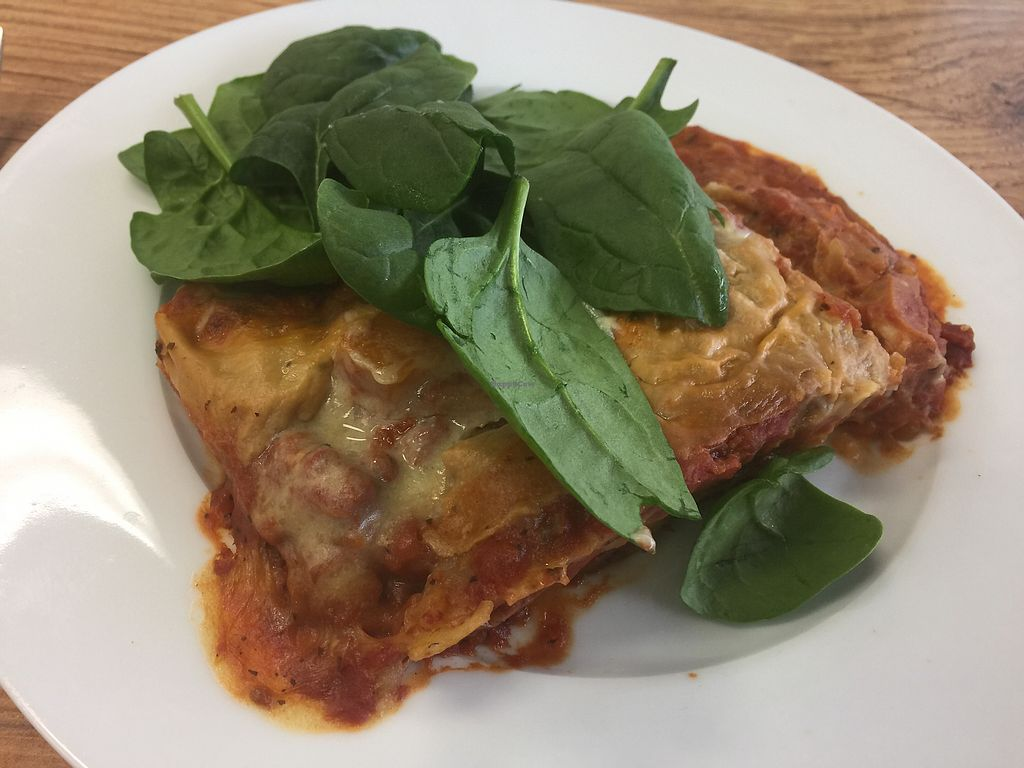 "Photo of CLOSED: Peace Love Vegan Cafe  by <a href=""/members/profile/Tiggy"">Tiggy</a> <br/>Vegan lasagna <br/> June 24, 2017  - <a href='/contact/abuse/image/81466/272769'>Report</a>"