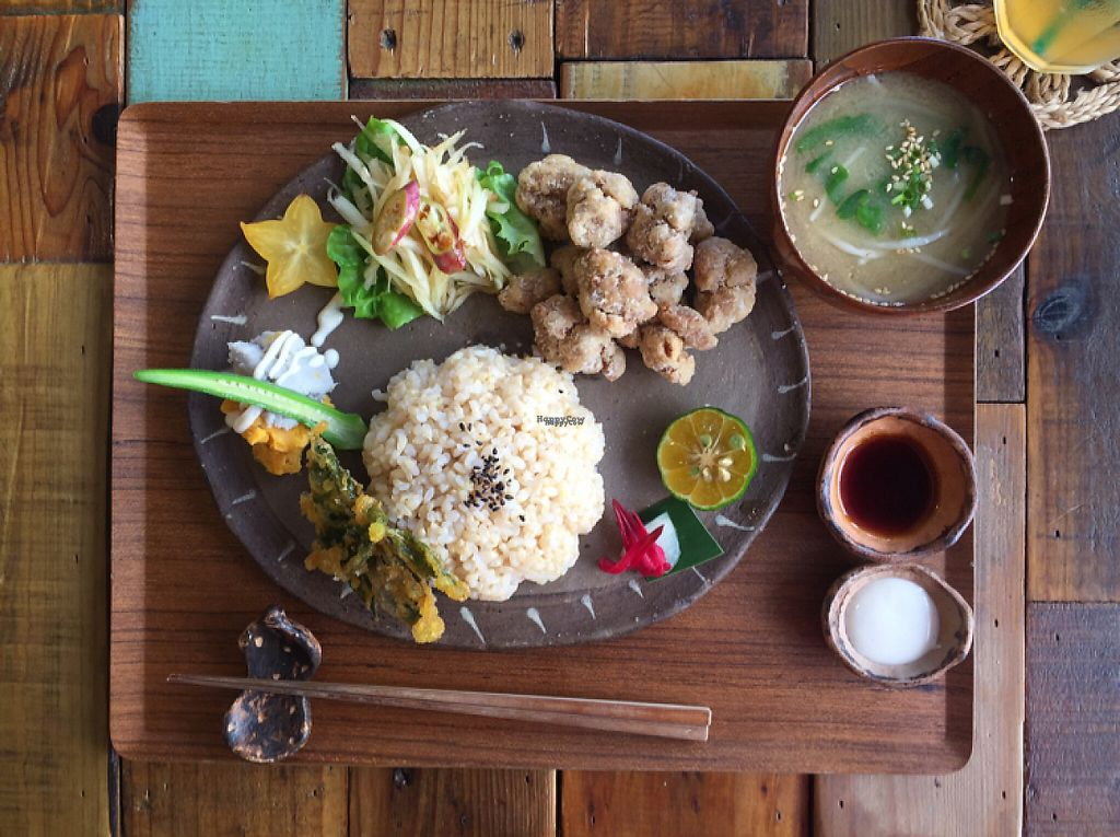 "Photo of Mana  by <a href=""/members/profile/SamanthaIngridHo"">SamanthaIngridHo</a> <br/>Japanese Fried Vege Chicken with miso soup <br/> November 8, 2016  - <a href='/contact/abuse/image/81469/187370'>Report</a>"