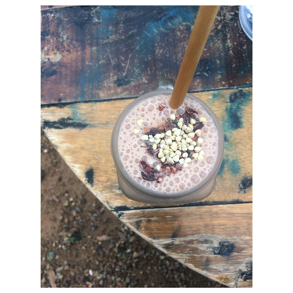 """Photo of HAH Lorne Beach  by <a href=""""/members/profile/ohhellohannah"""">ohhellohannah</a> <br/>Cacao, coffee, almond milk, vanilla protein, banana smoothie <br/> June 26, 2017  - <a href='/contact/abuse/image/81504/273557'>Report</a>"""