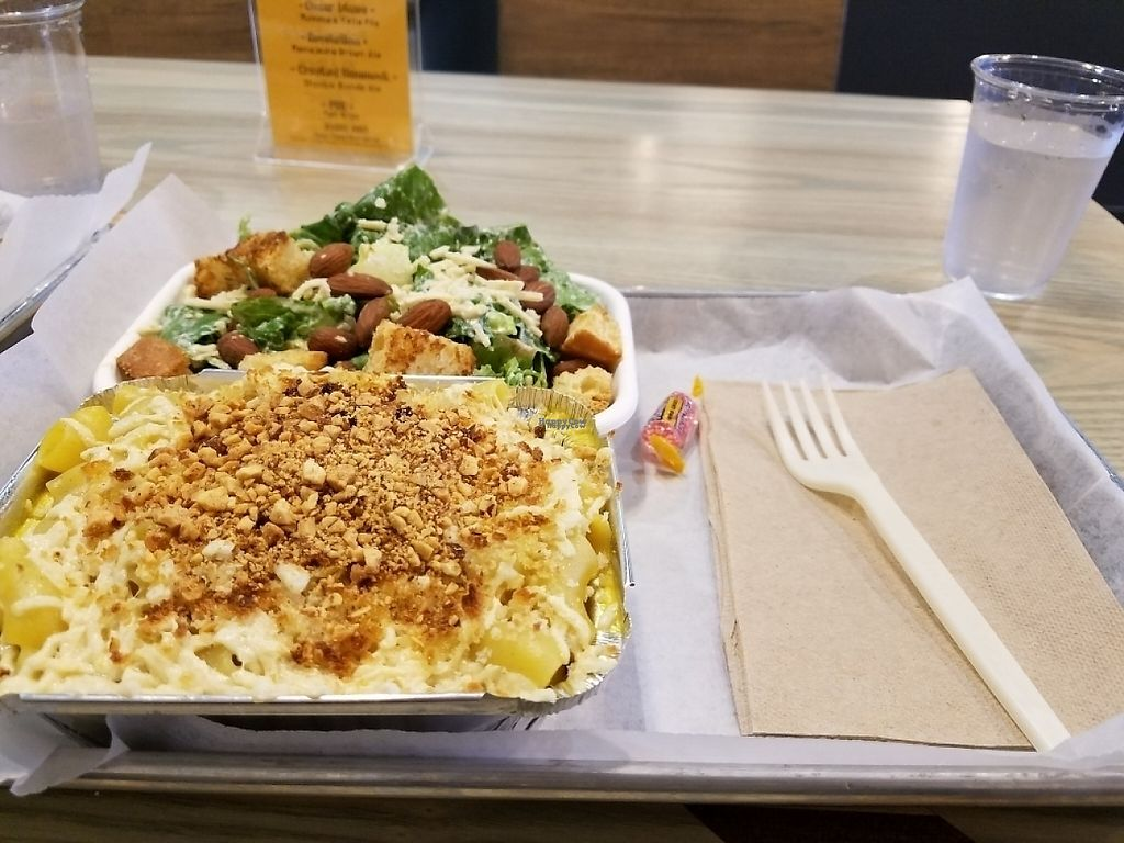 """Photo of Grandpa Mac - Coastal Hwy  by <a href=""""/members/profile/stewardcr21"""">stewardcr21</a> <br/>the Vegan Cesar Salad and Vegan """"uncheese"""" mac <br/> April 23, 2017  - <a href='/contact/abuse/image/81530/251283'>Report</a>"""