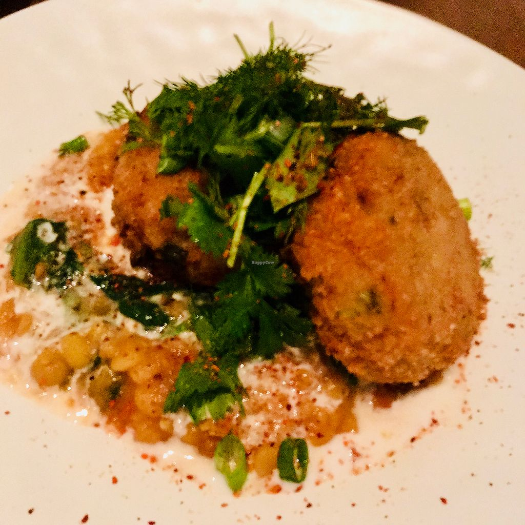 """Photo of Planta  by <a href=""""/members/profile/veggie_ween"""">veggie_ween</a> <br/>Crab cakes with chana dal <br/> April 8, 2018  - <a href='/contact/abuse/image/81537/382593'>Report</a>"""