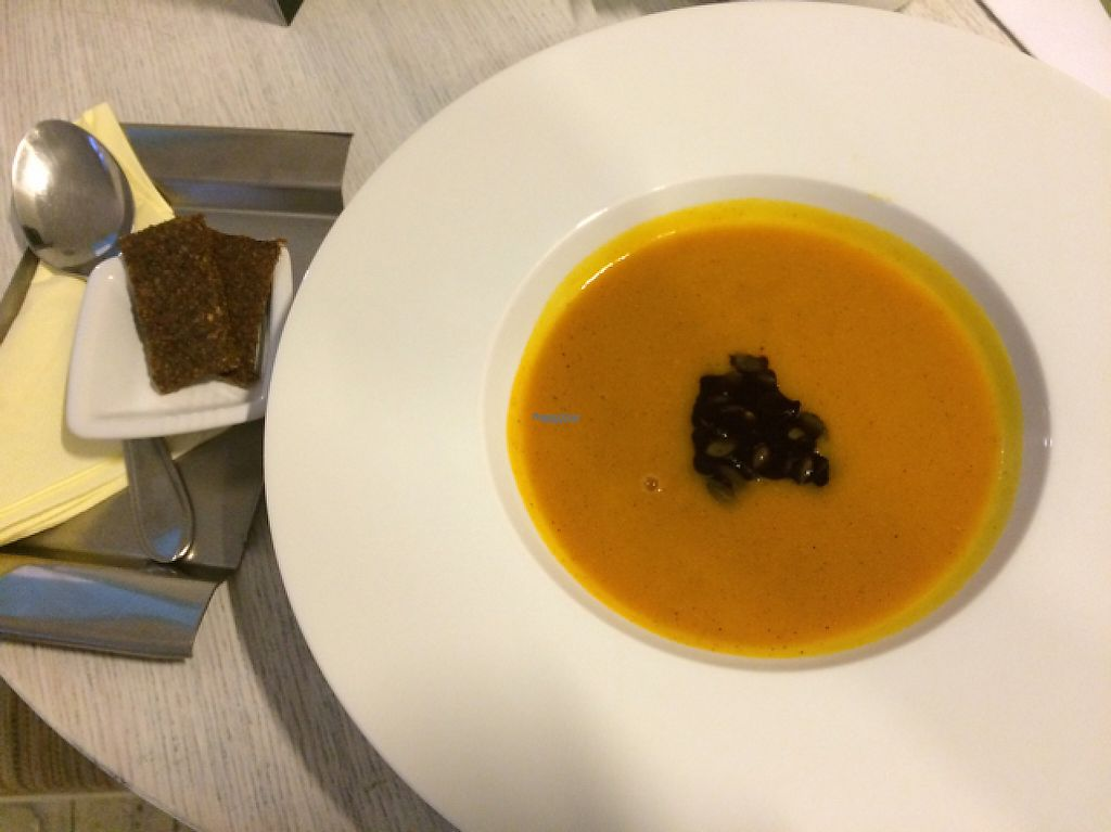 "Photo of CLOSED: Food of Love  by <a href=""/members/profile/Puma"">Puma</a> <br/>pumpkin soup with raw bread <br/> December 13, 2016  - <a href='/contact/abuse/image/81540/200843'>Report</a>"