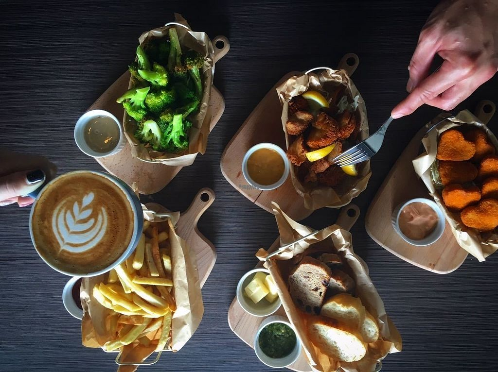 """Photo of Vburg Cafe  by <a href=""""/members/profile/vburgcafe"""">vburgcafe</a> <br/>Various Vegetarian Snack ranging from fresh broccoli, truffle fries, french & german bread, and veggie nugget.  <br/> October 18, 2016  - <a href='/contact/abuse/image/81549/182779'>Report</a>"""