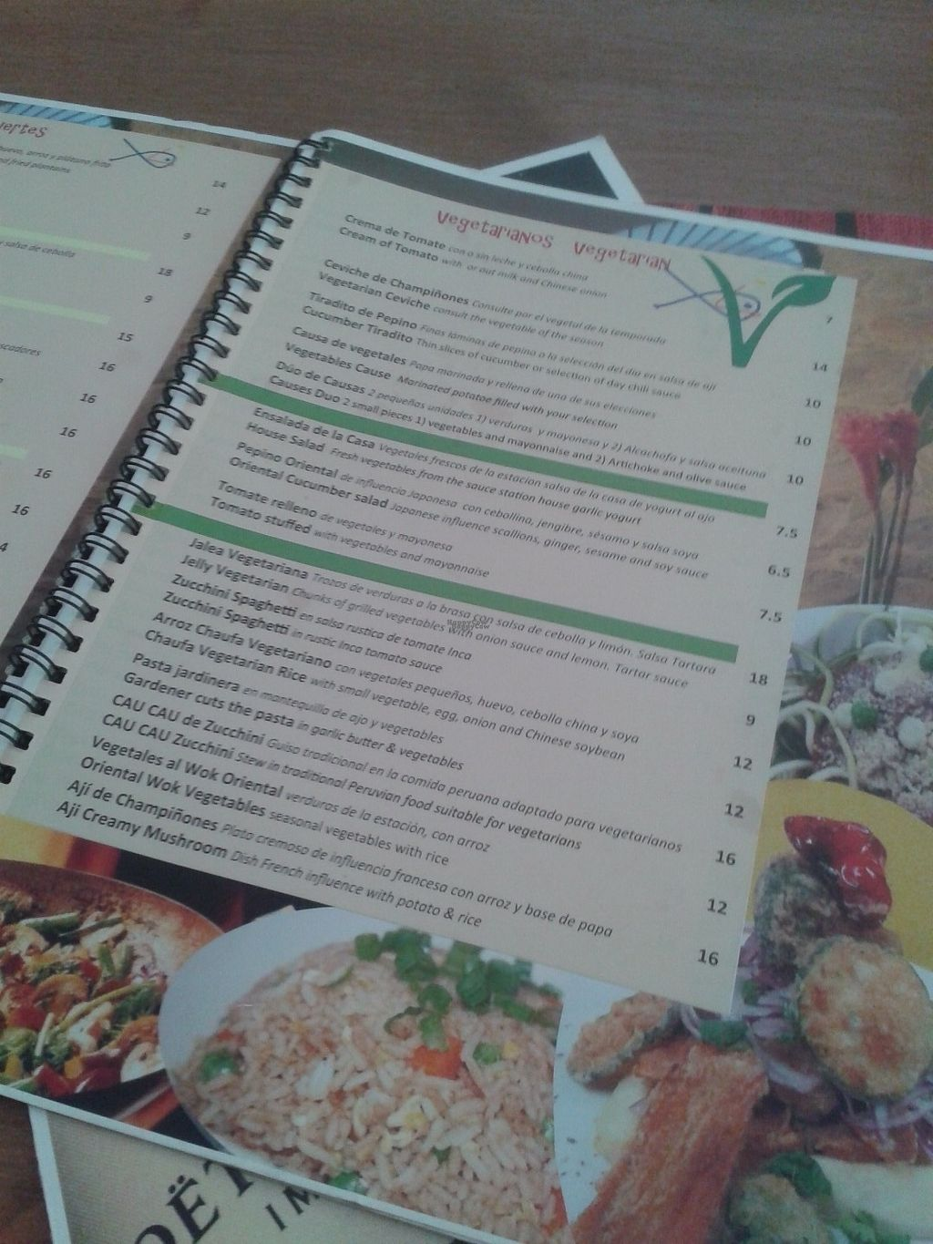 """Photo of CLOSED: El Virrey Kucina Peruana  by <a href=""""/members/profile/Ismarix"""">Ismarix</a> <br/>Veg options in the menu <br/> October 24, 2016  - <a href='/contact/abuse/image/81551/183999'>Report</a>"""