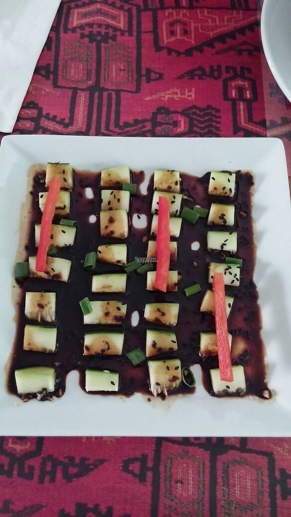 """Photo of CLOSED: El Virrey Kucina Peruana  by <a href=""""/members/profile/Ismarix"""">Ismarix</a> <br/>Oriental Cucumber salad. Japanese influence scallions, ginger, sesame and soy sauce <br/> October 24, 2016  - <a href='/contact/abuse/image/81551/184002'>Report</a>"""