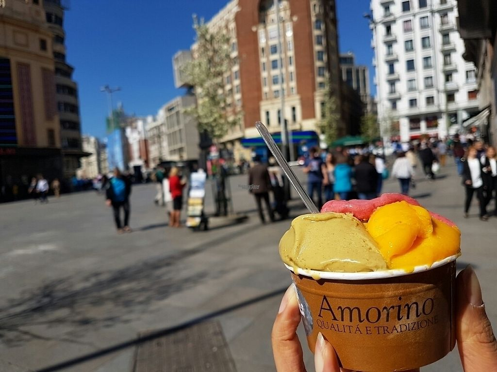 "Photo of Amorino - El Corte Inglés Callao  by <a href=""/members/profile/Tasha2103"">Tasha2103</a> <br/>Great sorbets, especially the pistachio! <br/> March 22, 2017  - <a href='/contact/abuse/image/81607/239432'>Report</a>"