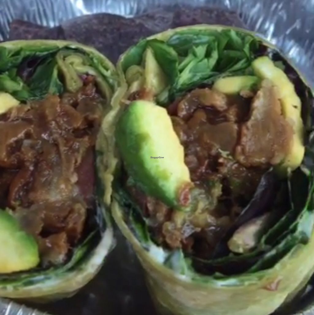 """Photo of Subia's Organic Cafe and Market  by <a href=""""/members/profile/Shalindra_k"""">Shalindra_k</a> <br/>BBQ Riblette sandwich as a wrap <br/> July 14, 2016  - <a href='/contact/abuse/image/8160/159837'>Report</a>"""