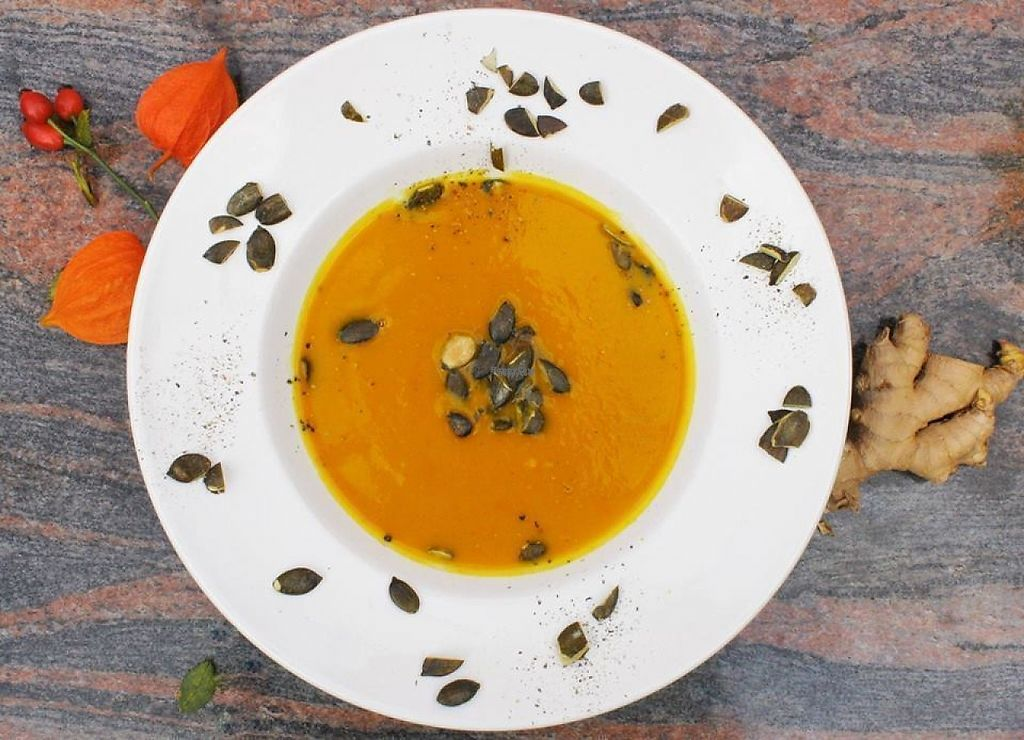 """Photo of Naturkost Kornblume  by <a href=""""/members/profile/community"""">community</a> <br/>squash soup <br/> March 8, 2017  - <a href='/contact/abuse/image/81679/234120'>Report</a>"""