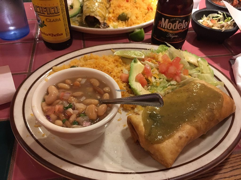 """Photo of El Tapatio  by <a href=""""/members/profile/leahk"""">leahk</a> <br/>veggie chimichanga dish <br/> January 11, 2017  - <a href='/contact/abuse/image/81691/210615'>Report</a>"""