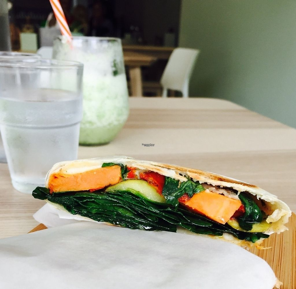 "Photo of Wombat Cafe & Store  by <a href=""/members/profile/karlaess"">karlaess</a> <br/>Smoked veg wrap <br/> November 12, 2016  - <a href='/contact/abuse/image/81695/188910'>Report</a>"