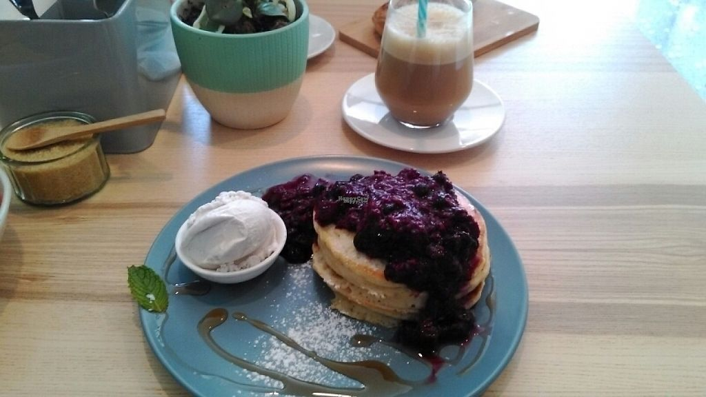 "Photo of Wombat Cafe & Store  by <a href=""/members/profile/Vegout23"">Vegout23</a> <br/>berry pancakes + iced coffee <br/> December 2, 2016  - <a href='/contact/abuse/image/81695/196473'>Report</a>"