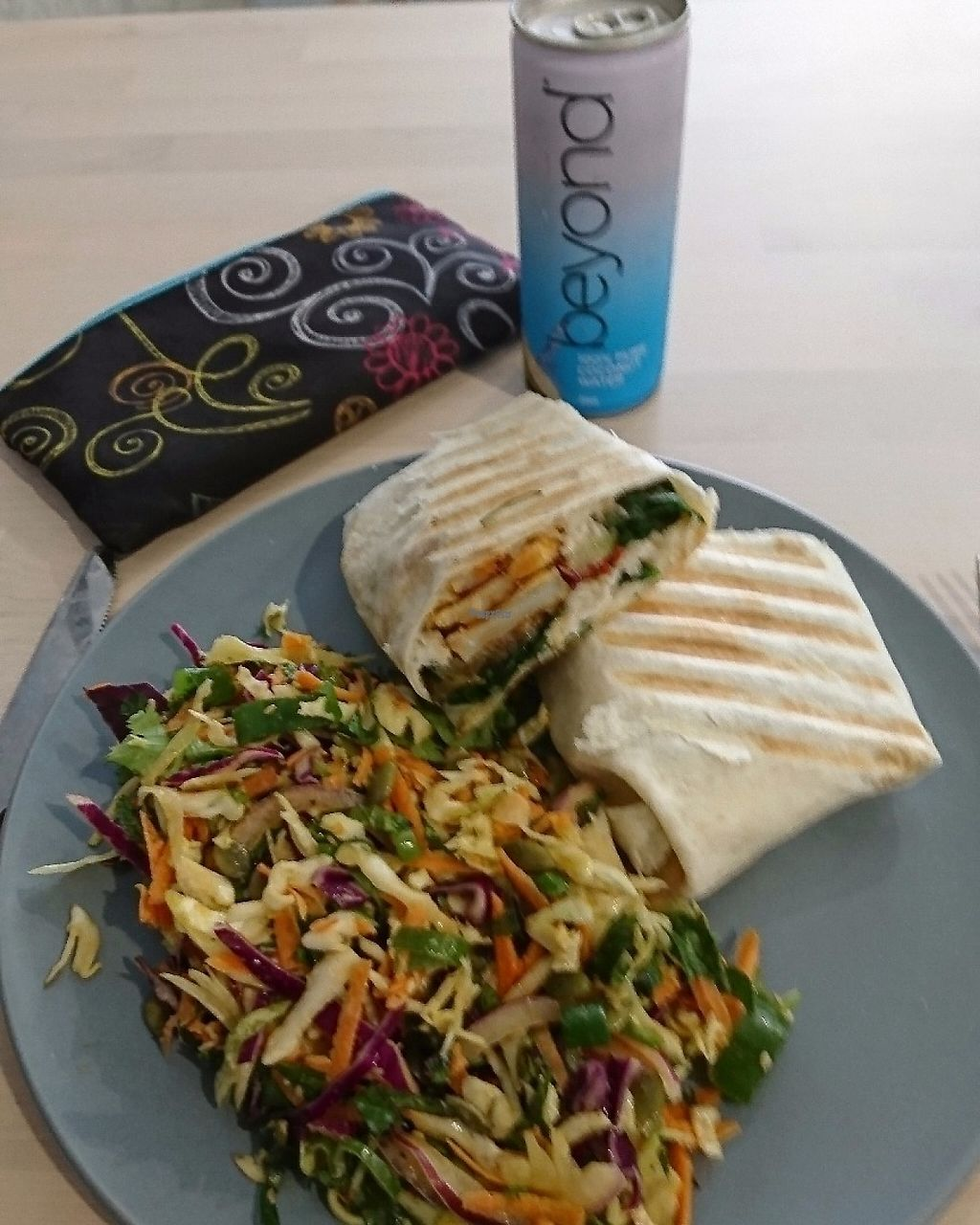 "Photo of Wombat Cafe & Store  by <a href=""/members/profile/Sharnasveganlife"">Sharnasveganlife</a> <br/>Delicious vegan veggie wrap and salad.  <br/> March 5, 2017  - <a href='/contact/abuse/image/81695/233167'>Report</a>"