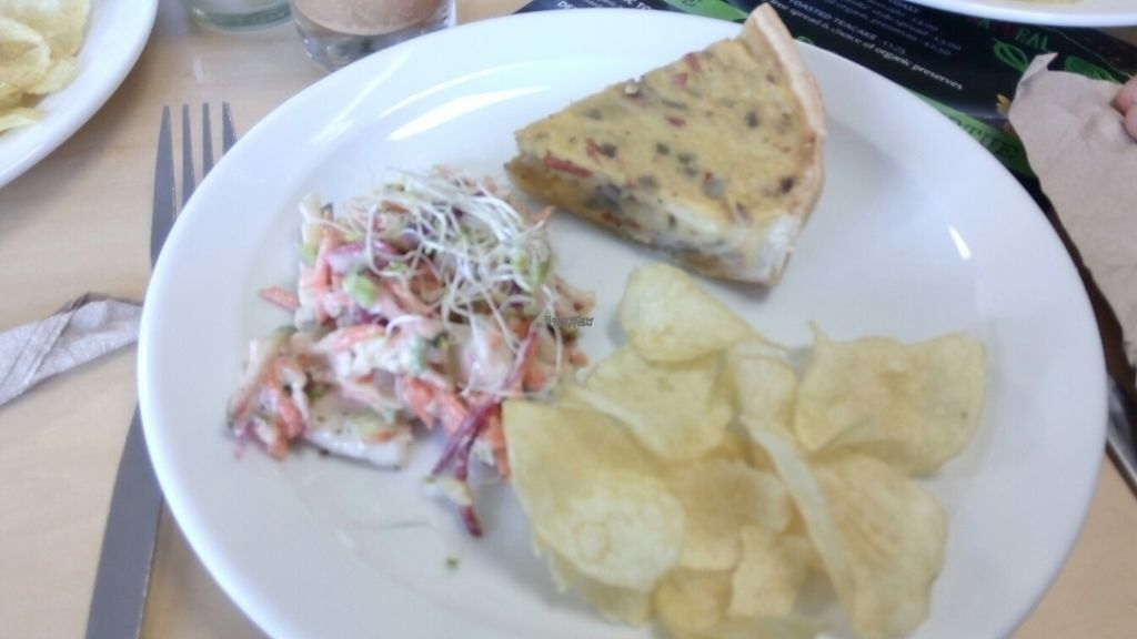 """Photo of Rabbit Vegan Cafe  by <a href=""""/members/profile/VeganWitchery"""">VeganWitchery</a> <br/>Quiche, Salad &Crisps <br/> October 23, 2016  - <a href='/contact/abuse/image/81698/183874'>Report</a>"""