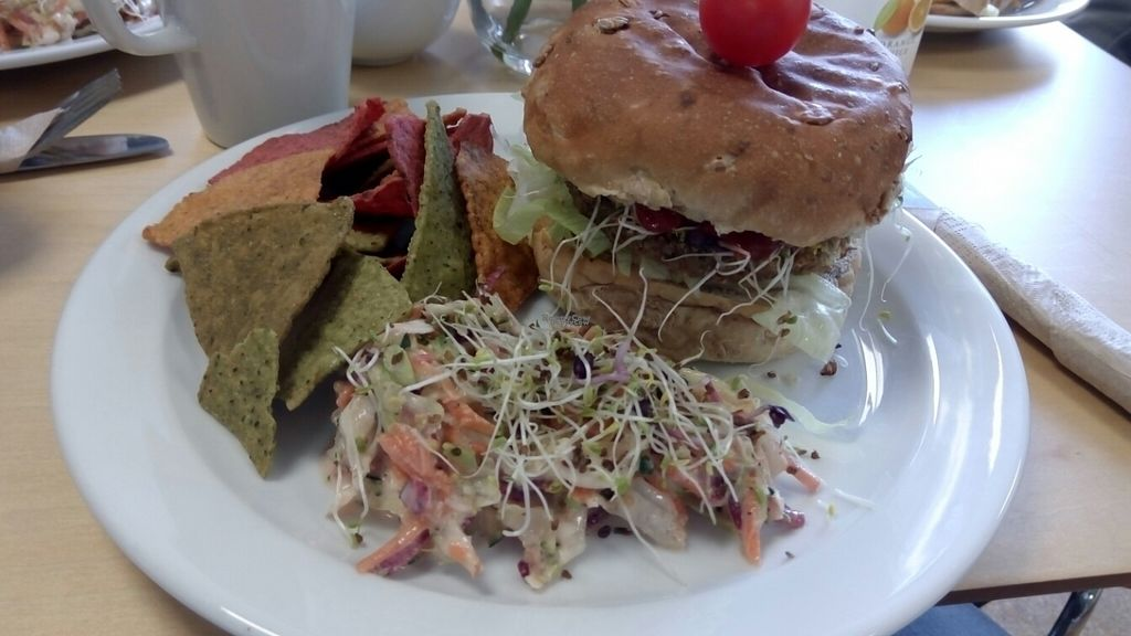 """Photo of Rabbit Vegan Cafe  by <a href=""""/members/profile/VeganWitchery"""">VeganWitchery</a> <br/>Walnut and Quinoa Burger <br/> October 23, 2016  - <a href='/contact/abuse/image/81698/183875'>Report</a>"""