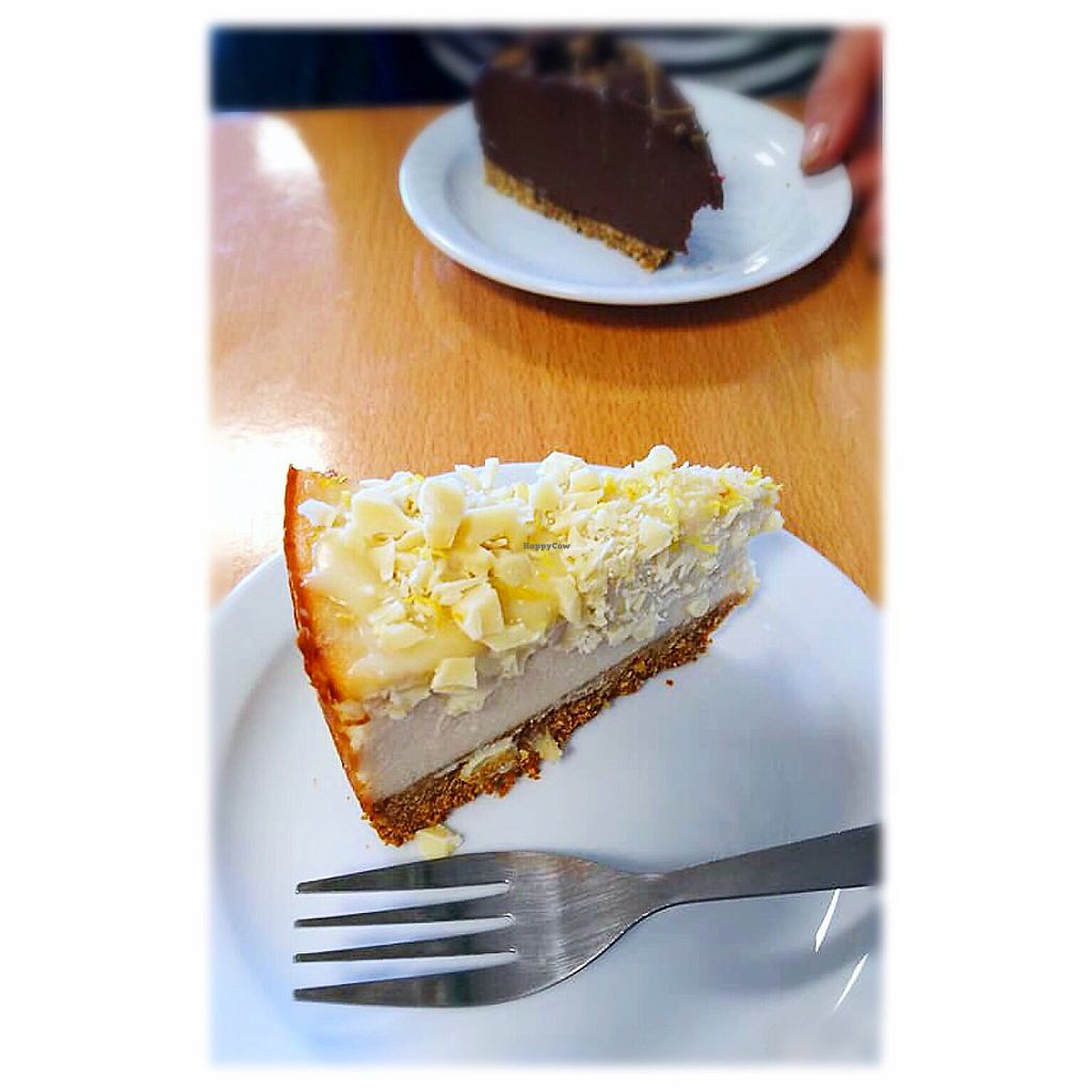 """Photo of Rabbit Vegan Cafe  by <a href=""""/members/profile/Fay84Vegan"""">Fay84Vegan</a> <br/>White Choc 'Cheese' Cake  <br/> February 22, 2018  - <a href='/contact/abuse/image/81698/362216'>Report</a>"""