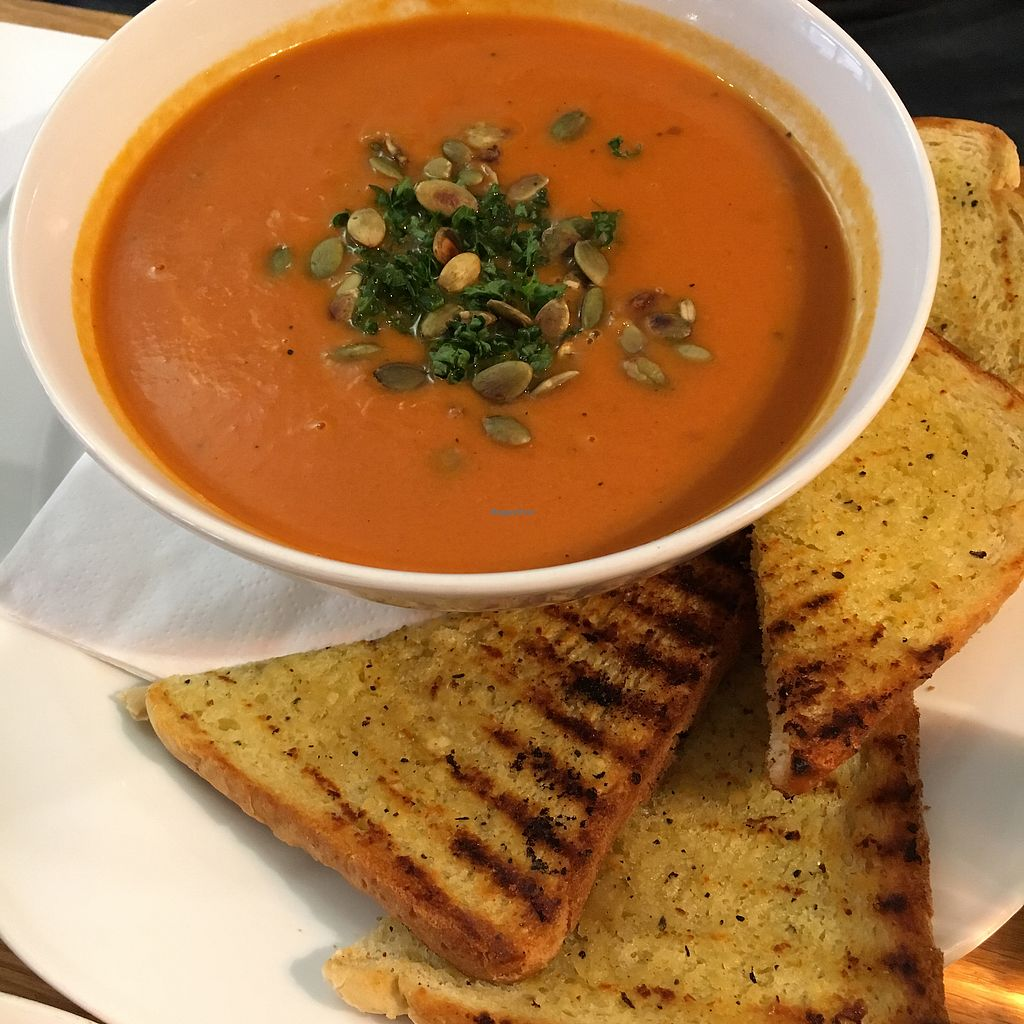 "Photo of Mitt Cafe  by <a href=""/members/profile/SeitanSeitanSeitan"">SeitanSeitanSeitan</a> <br/>Lunch soup <br/> April 14, 2018  - <a href='/contact/abuse/image/81730/385604'>Report</a>"