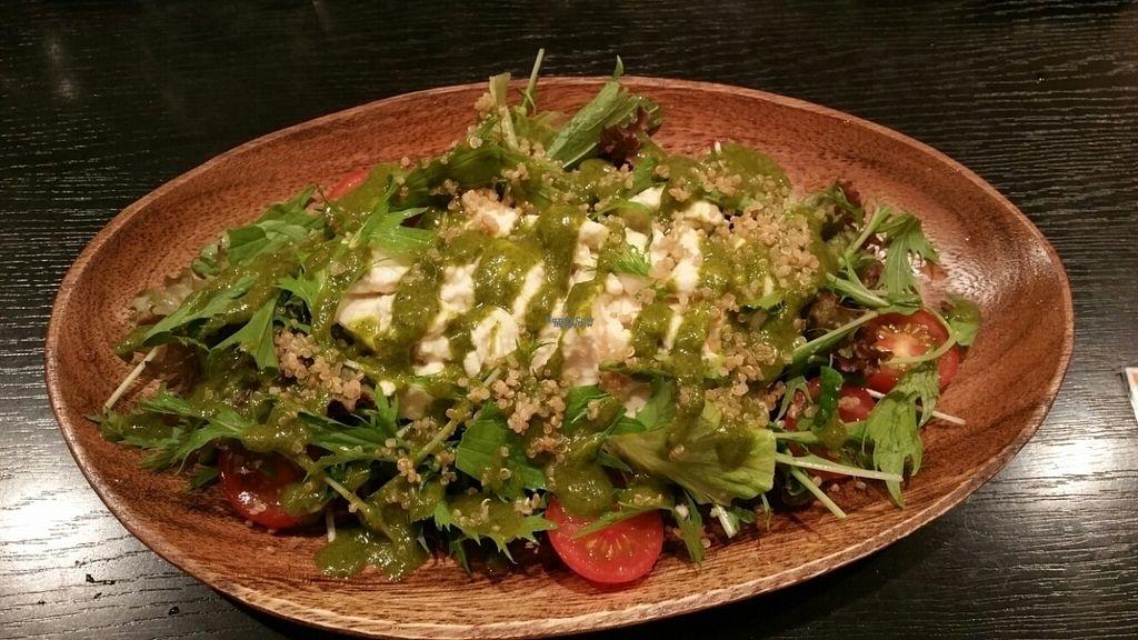 "Photo of Amurita no Niwa  by <a href=""/members/profile/veganxian"">veganxian</a> <br/>Mizuna salad with silk tofu  <br/> October 22, 2016  - <a href='/contact/abuse/image/81740/183604'>Report</a>"