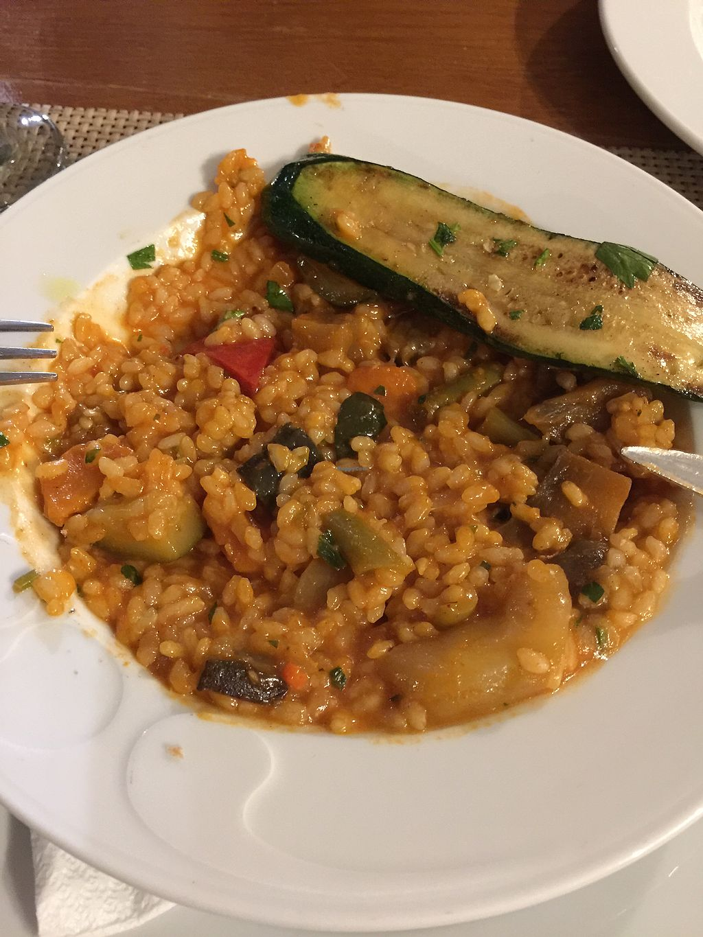 """Photo of Konoba Bonaca  by <a href=""""/members/profile/Vickytoria"""">Vickytoria</a> <br/>Vegetable risotto (and a piece of zucchini from the grilled veggie plate)  <br/> October 17, 2017  - <a href='/contact/abuse/image/81756/316102'>Report</a>"""
